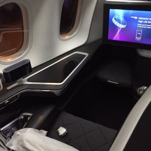 British Airways First Class on the Boeing 787 Dreamliner
