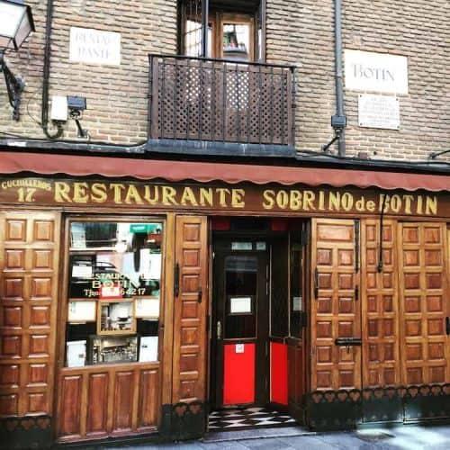 Dinner at Restaurante Sobrino de Botin