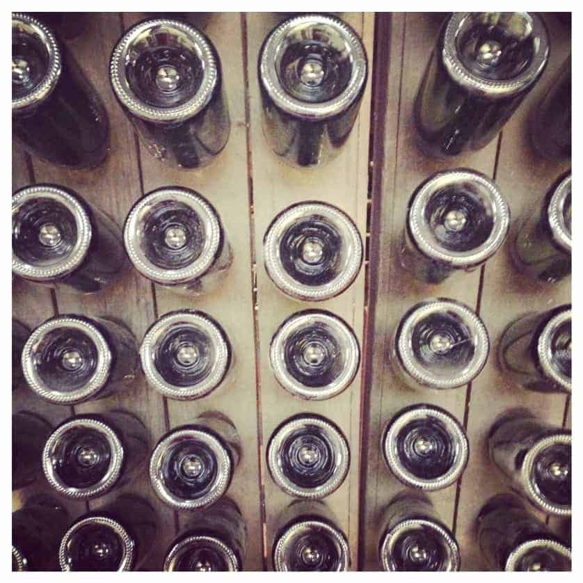 Wine bottles at the Rosemary Vineyard on the Isle of Wight