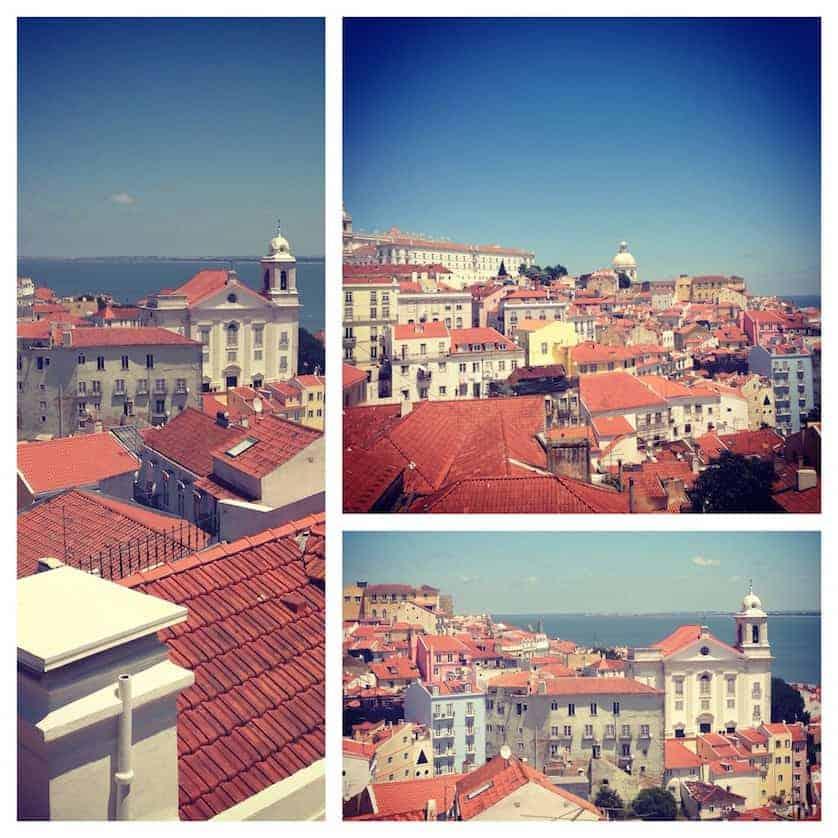 Views at Miradouro de Santa Luzia - Perfect Lisbon City Break