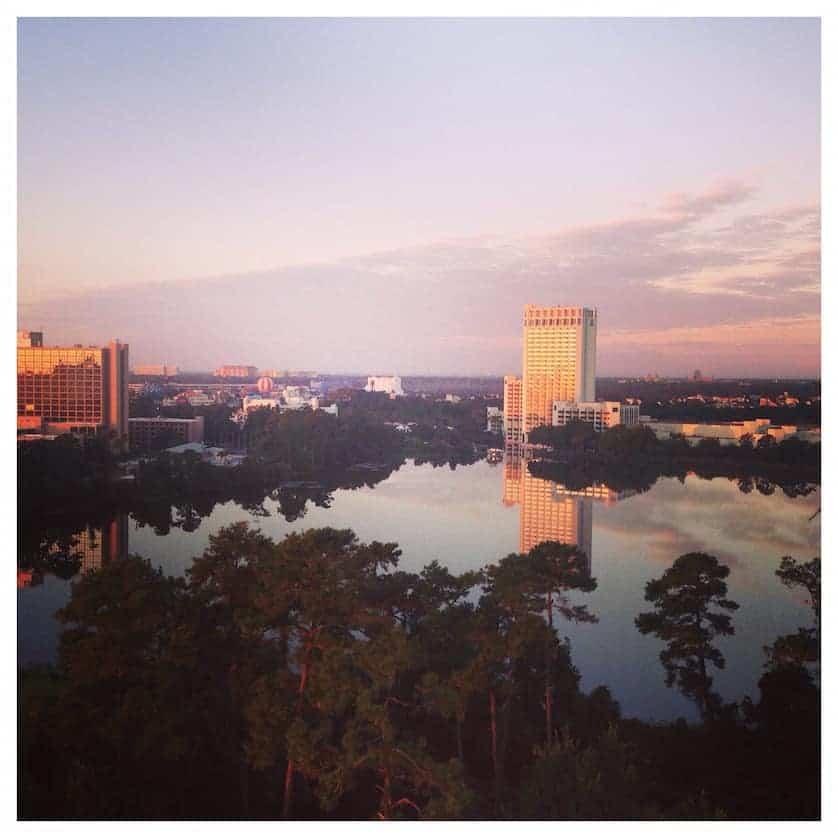Walt Disney World Orlando, View from hotel over Disney