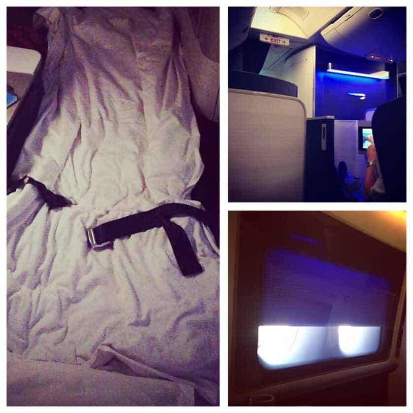 British Airways First Class - Cabin Interior and Bed