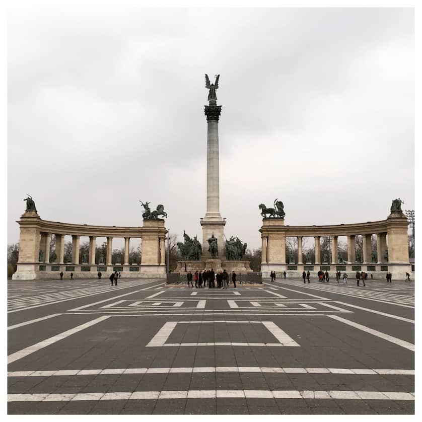 Hero's Square Bohemian Budapest