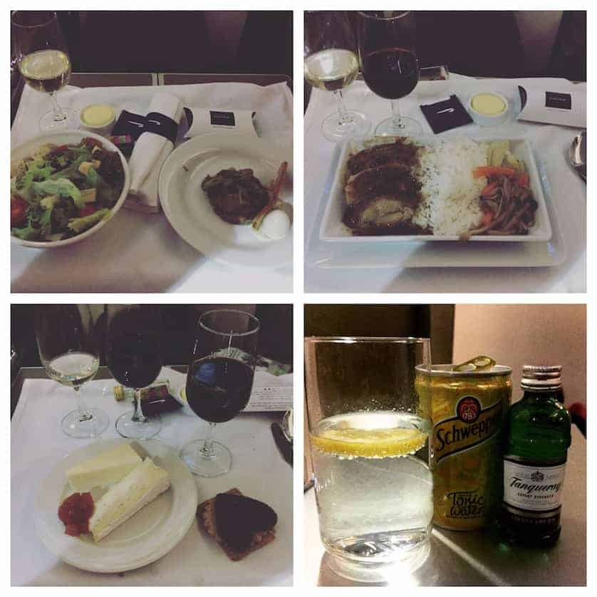 Dinner on BA British Airways Vs Cathay Pacific Business Wars