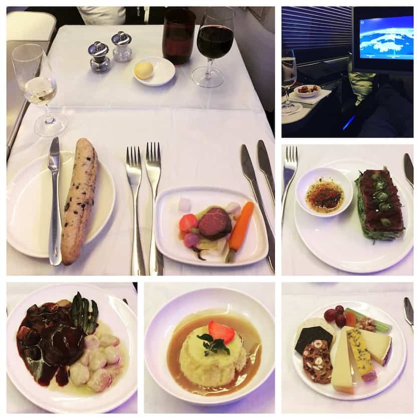 Dinner on British Airways First Class on a 747 from London Heathrow to New York by WorldWideWill