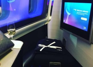 British Airways First Class on a 747 from London Heathrow to New York