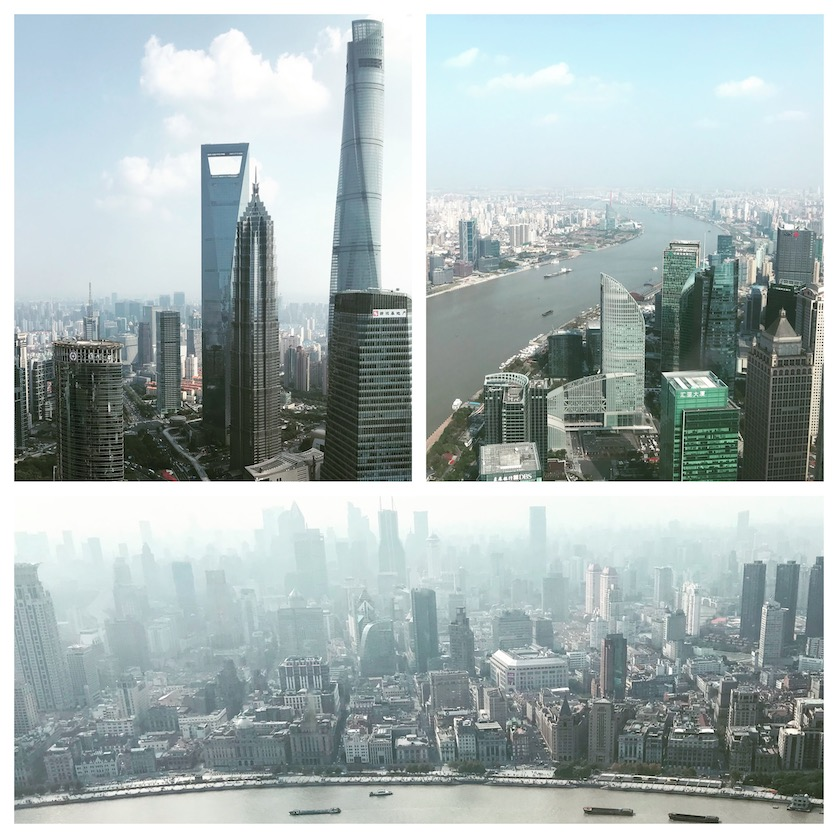 View from the Oriental Pearl Tower Shanghai China