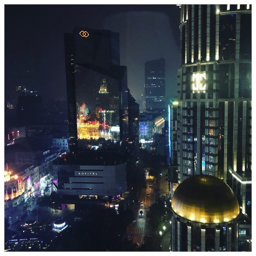 View from my hotel suite on my Shanghai City Break