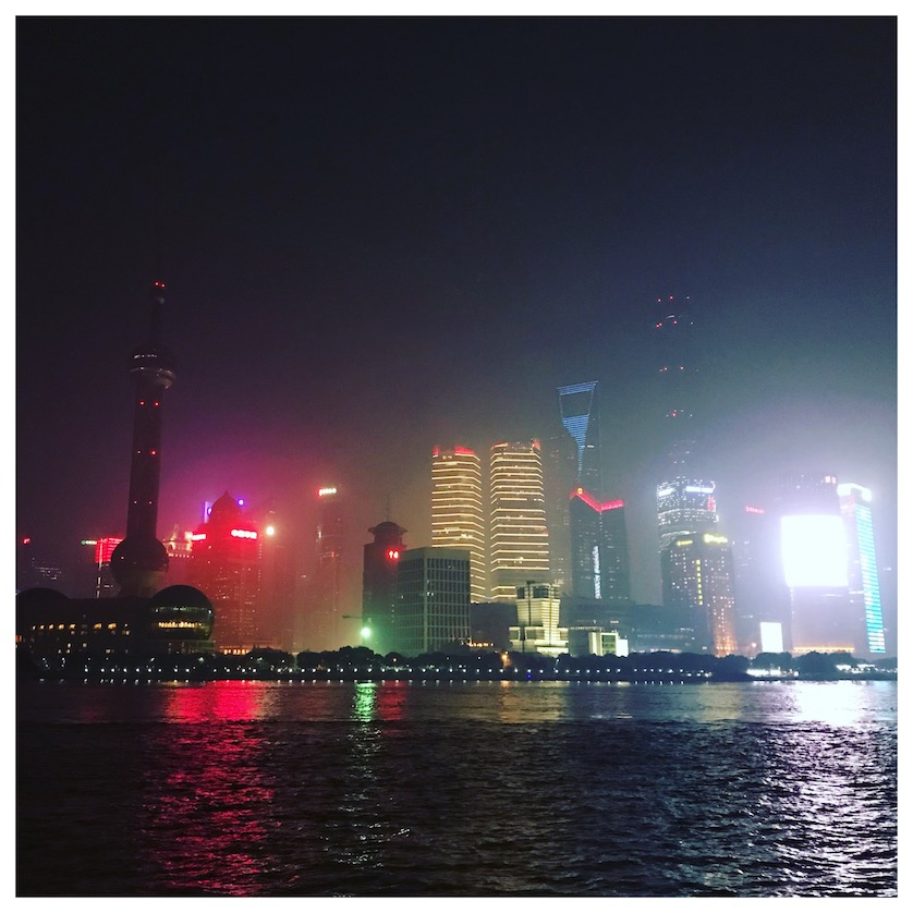 View from the Bund Shanghai at night