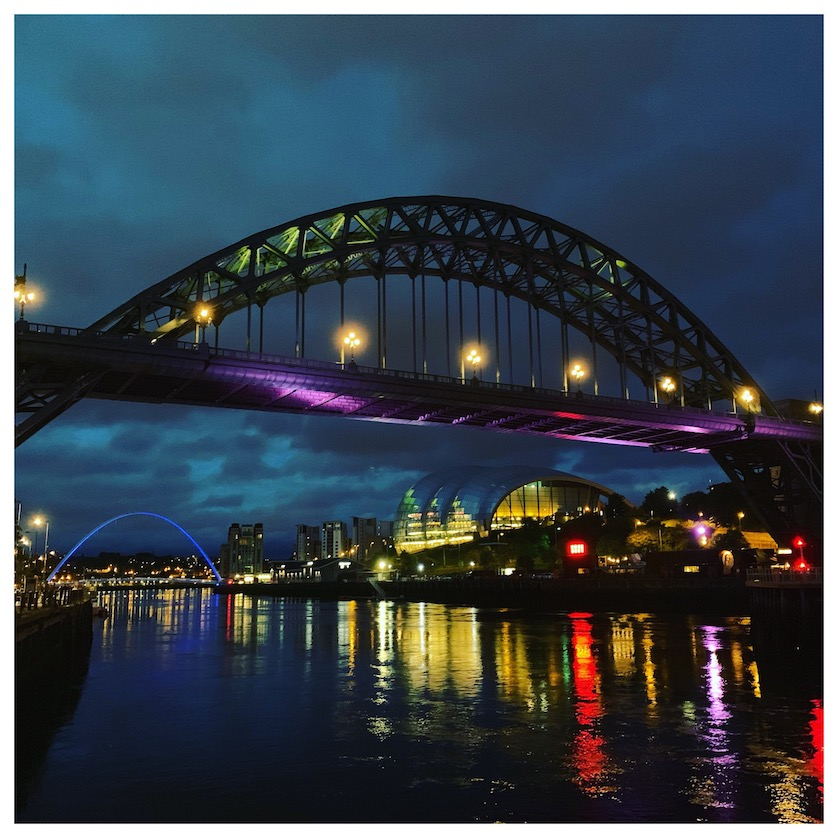Night time in Newcastle