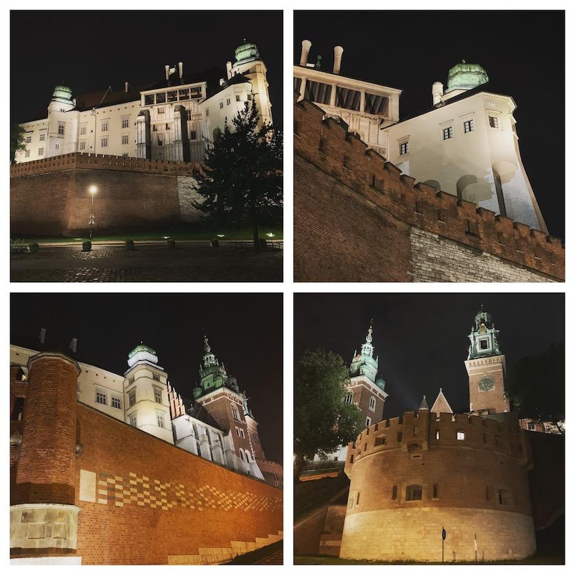Wawel Castle at night on my Krakow City Break