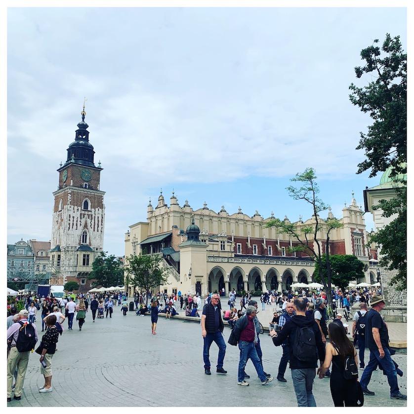 Main Market Square in Krakow on my Krakow City Break