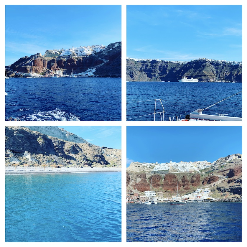 Some of the views around the Caldera on the boat trip