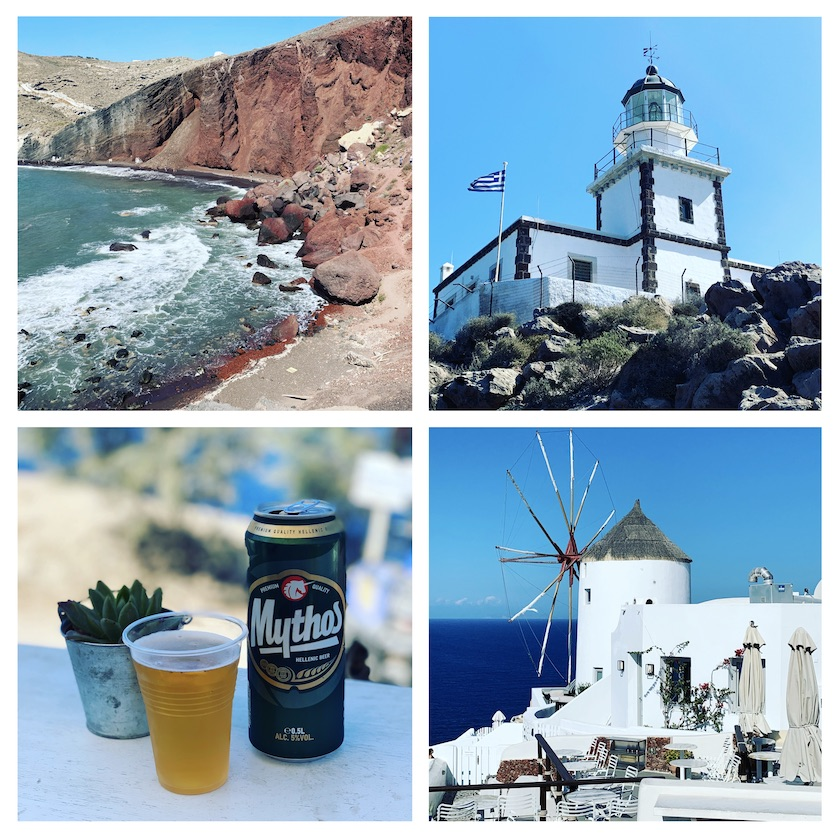 Some of the sights around Santorini